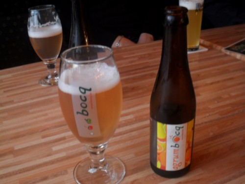 Cerveza de naranja en Brasserie du Bocq